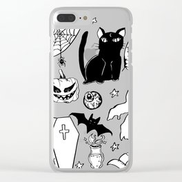 Halloween Doodles 1 Clear iPhone Case