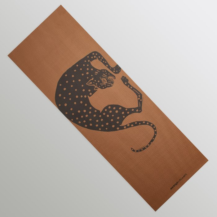 Blockprint Cheetah by Megan Galante Yoga Mat