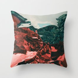 Color of the day is red Throw Pillow