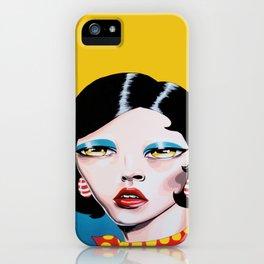 Biting My Lip iPhone Case