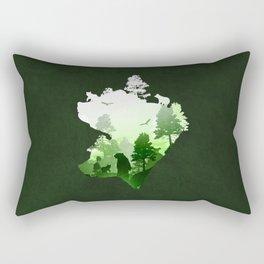 Green Bears Rectangular Pillow
