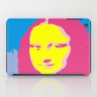 mona lisa iPad Cases featuring Mona Lisa by Becky Rosen
