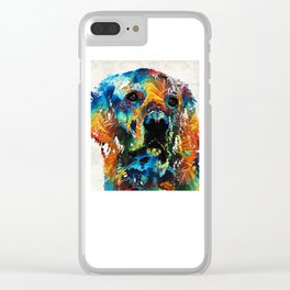 Colorful Dog Art - Heart And Soul - By Sharon Cummings Clear iPhone Case
