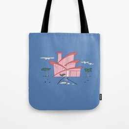 Pink Panther's Modern House Tote Bag