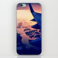 plane iPhone & iPod Skins featuring Plane by Leah Galant