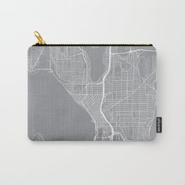 Seattle Map, Washington USA - Pewter Carry-All Pouch