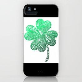 Lucky 4-Leaf Clover - LaurensColour iPhone Case