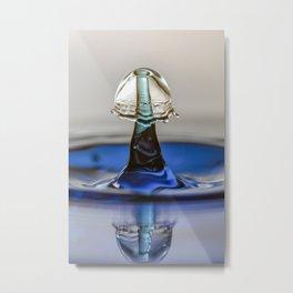 Blue liquid mushroom 5994 Metal Print