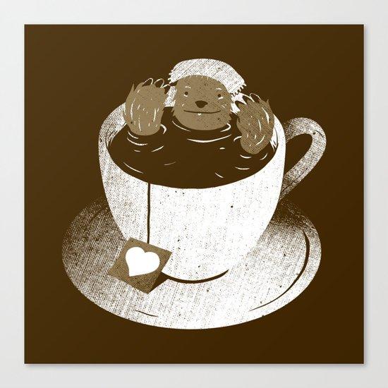 Monday Bath Sloth Coffee Canvas Print