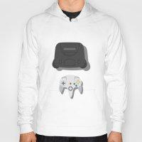 nintendo Hoodies featuring Nintendo 64 by Di No