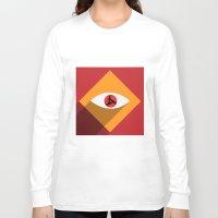 sasuke Long Sleeve T-shirts featuring Sharingan Illusion by Asif Mallik