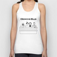 bar Tank Tops featuring Genius Bar by science fried art