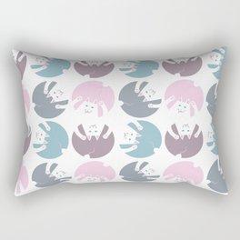 Cats In Dots Rectangular Pillow