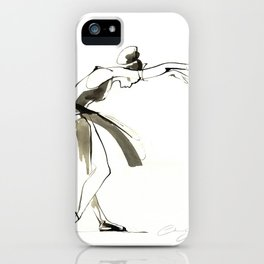 Dance Drawing iPhone Case