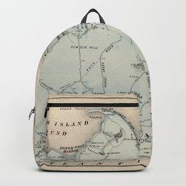 Map of East Hampton 1873 Backpack