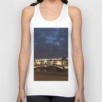 moscow Tank Tops featuring Night Moscow. by Mikhail Zhirnov