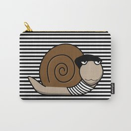 French Snail ~ Escargot Carry-All Pouch