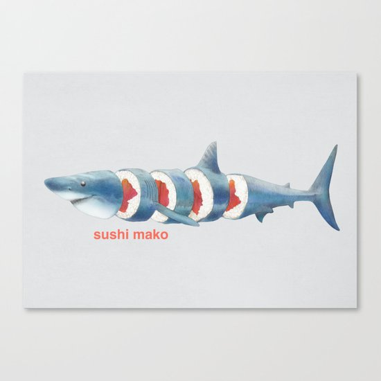 Sushi Mako (color option) Canvas Print