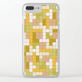 Tetris Camouflage Desert Clear iPhone Case
