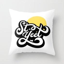 St. Yeet, FL (St. Pete) Throw Pillow
