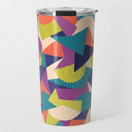 Trendy Abstract Geo Travel Mug