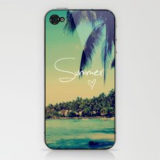 Summer Love Vintage Beach iPhone & iPod Skin