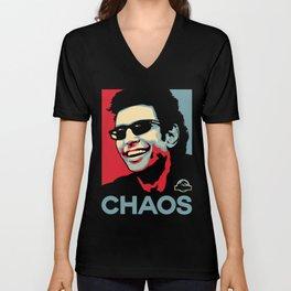 'Chaos' Ian Malcolm (Jurassic Park) Unisex V-Neck