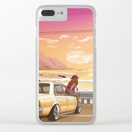 A time to reflect. Clear iPhone Case