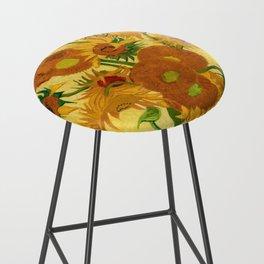 Sunflowers by Van Gogh Bar Stool