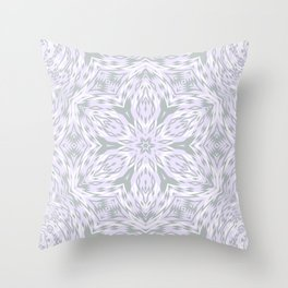 Lavender Snowflake Throw Pillow