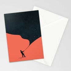 Night fills up the sky Stationery Cards