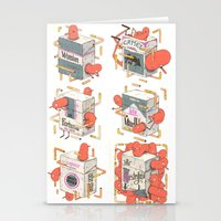 cigarettes Stationery Cards featuring Cigarettes Deluxe by Kensausage