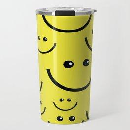 SMILEY FACE Abstract Art Travel Mug