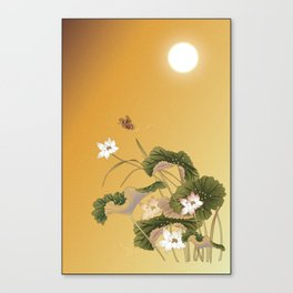 lotus_vector draw Canvas Print