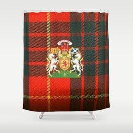 RED & GREEN CAMERON TARTAN ROYAL SCOTLAND Shower Curtain