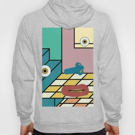 double-floored mauve face room no. 1 Hoody