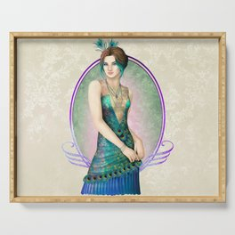 Peacock Gown Serving Tray