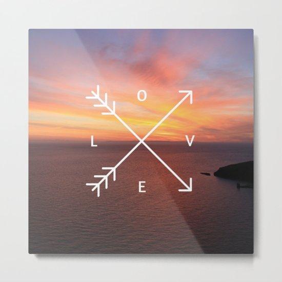 Sunset Love Valentine's Day (Valentine Gift) Metal Print