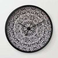 spiritual Wall Clocks featuring Spiritual Mandala by msimona