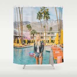 Palm Springs Pool Day II Shower Curtain