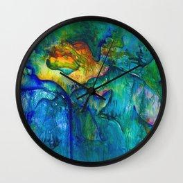 Water Rose Wall Clock