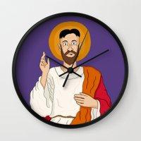 korean Wall Clocks featuring North Korean Jesus by Chris Piascik