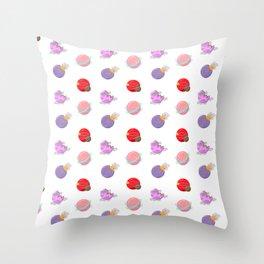 Cartoon Planets Pattern Throw Pillow