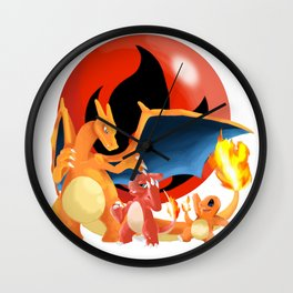 Spit Fires Wall Clock