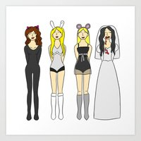 mean girls Art Prints featuring Mean Girls Halloween by CozyReverie