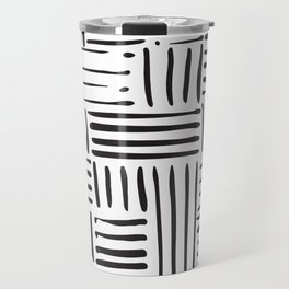 Weave in Black Travel Mug