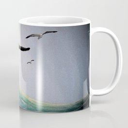 Seaguls Soaring with the Ocean Waves Coffee Mug