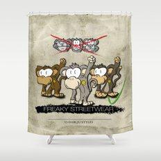 Protest Monkeys Shower Curtain