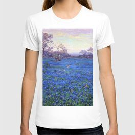 Bluebonnets at Twilight, mountain-desert landscape painting by Robert Julian Onderdonk T-shirt