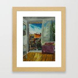 Montreal Living Room and Balcony  Framed Art Print